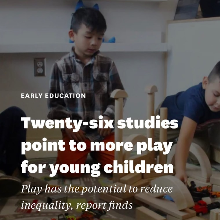 """""""A growing body of research and several experts are making the case for play to boost the well-being of young children as the pandemic drags on – even as concerns over lost learning time and the pressure to catch kids up grow stronger."""" - Read the full @heckingerreport article Link in Bio > Play, Now More Than Ever > Twenty-Six Studies Point to More Play for Young Children - #play #importanceofplay #childdevelopment #freeplay #powerofplay"""