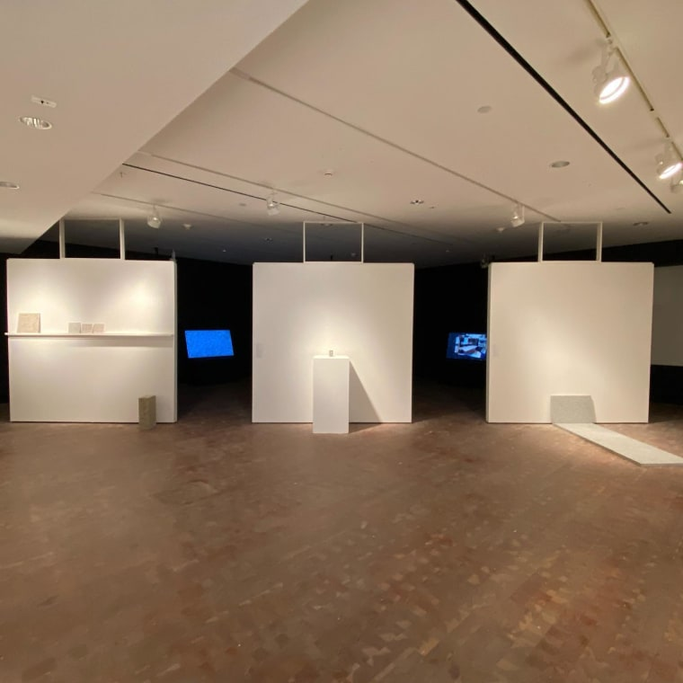 Install shots from Granite and Rainbow On view until October 24