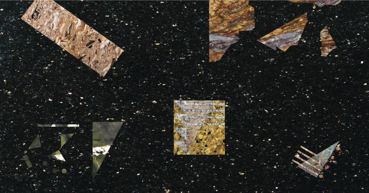 Granite and Rainbow September 16 - October 24 Granite is as flexible in its use as it is hard in its form. It's everywhere! From monuments to memorials, skyscrapers to kitchens—it is ground, wall, skin and foundation all at once. We think of granite when we think of tombstones just as we think of it when we think of countertops. Honed, it shines bright like wealth and 20th century finance. Rough, it registers as rusticated, old, stoic, and stately. Granite is made heavy by cultural value and expectation. It oscillates from two dimensional surface to three-dimensional form, from painting to sculpture. Virginia Woolf famously paired granite with rainbow to create a distinction between reality and imagination, hard facts and ephem-eral dreams. We're looking for a granite rainbow, a simultaneous collision of the two conditions into one. This show presents an-other look at granite, both as material and as media. We present it as grandly historical and forgettably omnipresent, as a means to revisit some of our designs through a thin-solid material re-rendering of form, and as a material that has had a rough transition from a glorious past to a rather abject present. We look at granite as cultural object, architectural surface, and imaginary signifier. Image: Courtesy New Affiliates