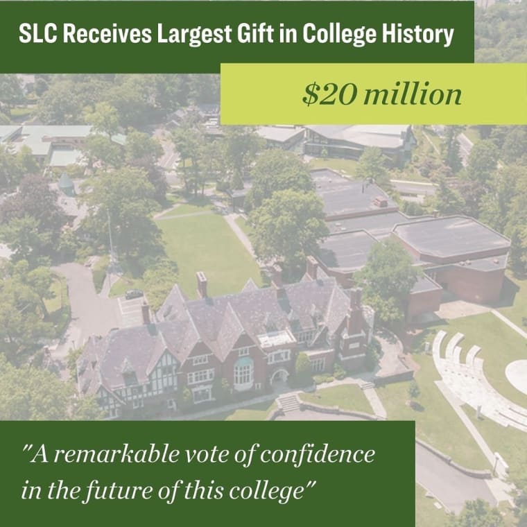 """President Judd today announced the largest donation in the history of the College -- $20 million from an anonymous alumna to support and accelerate the College's strategic vision for the future. """"This extraordinarily generous gift is an incredible investment in Sarah Lawrence,"""" says President Judd. """"It is a remarkable vote of confidence in the future of this college."""" Read more at slc.edu • • • #sarahlawrencecollege #sarahlawrence"""