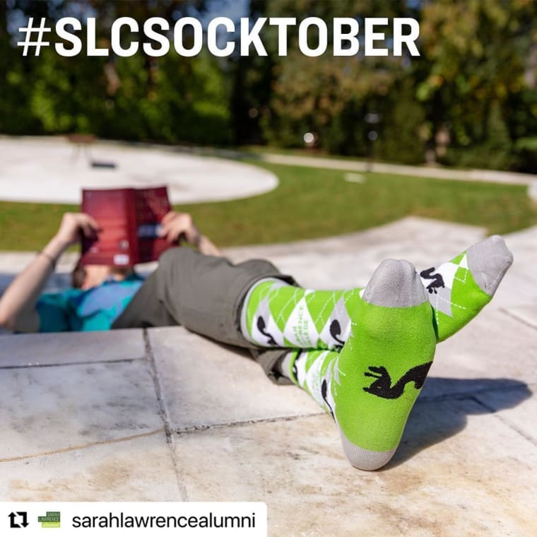 #Repost @sarahlawrencealumni ・・・ Happy #SLCSocktober! When you make a minimum $10 monthly contribution or a one-time donation of $100 or more during the month of October, you will receive a complimentary pair of SLC socks. These socks are THE BEST. Black squirrels. Argyle. 100% SLC. Visit the link in our bio to make an impact for Sarah Lawrence all year long. 🧦 🧦 🧦 #sarahlawrencecollege #sarahlawrence #socktober #blacksquirrel