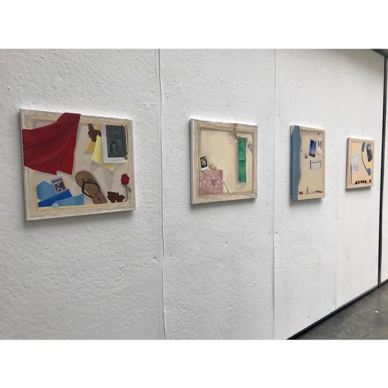 The Other Side . Avila - Lillian - Megan - Amaia - Kate - Claire - Elena - Samantha - Devon - Natalie - Thistle - Samantha - Isabella - Mallory . Painting: Sense of Place #slcvasa #sarahlawrence