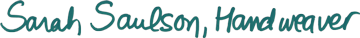 Sarah Saulson Handweaver handwritten logo
