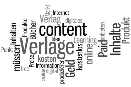 """Wordle für """"Wie Verlage im Internet Geld verdienen"""""""
