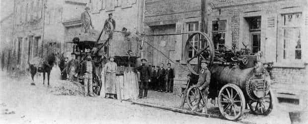 So sah es Ende des 19. Jahrhunderts in Groß-Gerau, genauer in der Darmstädter Straße, aus.