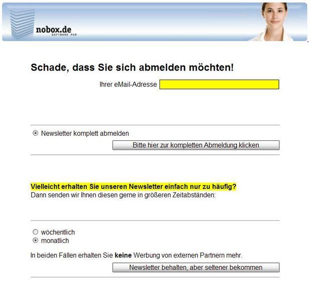 Alternativer Screen für nobox.de: 5-Min-Axure-Hack - Wording stark verbesserungswürdig :-)
