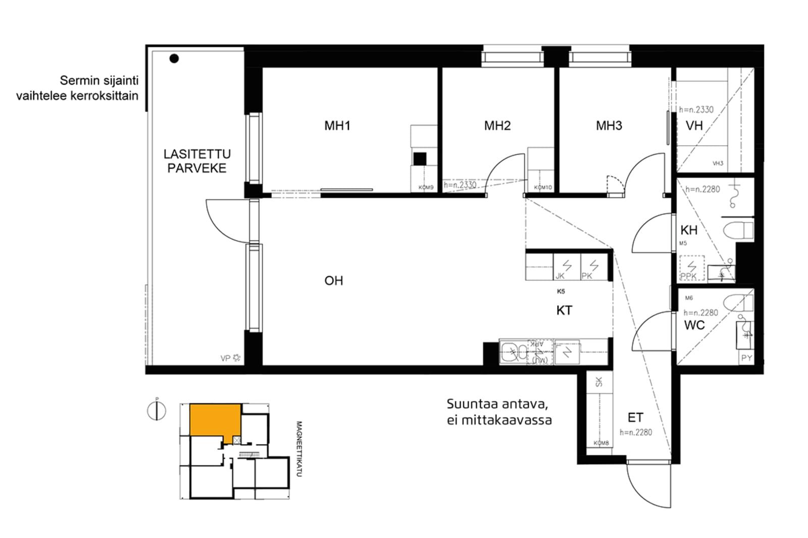 Espoo, Saunalahti, Magneettikatu 8 A 022