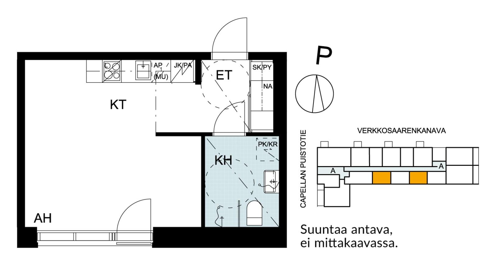 Helsinki, Kalasatama, Capellan puistotie 21