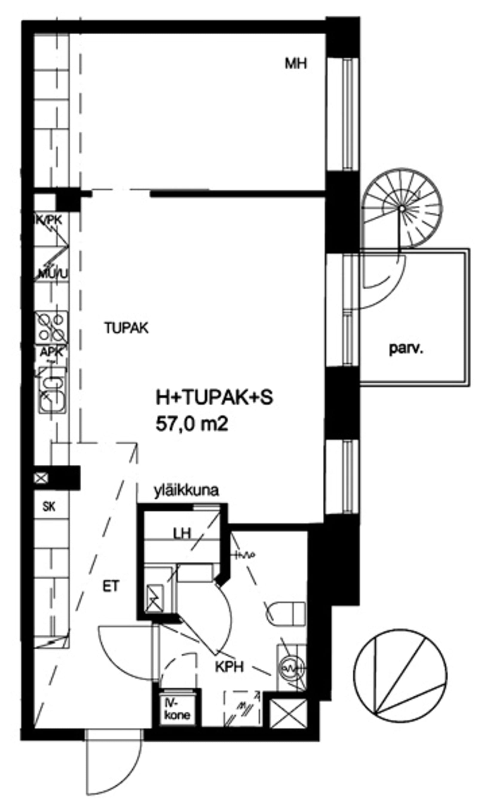 Helsinki, Kamppi, Lönnrotinkatu 32 A 005
