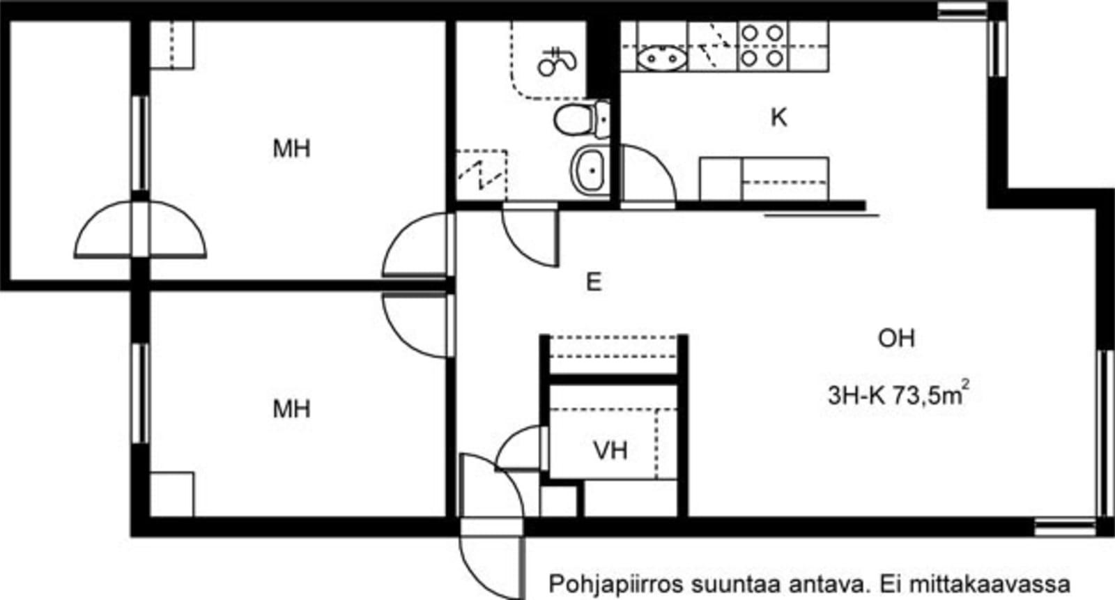 Helsinki, Katajanokka, Matruusinkatu 2 B 018