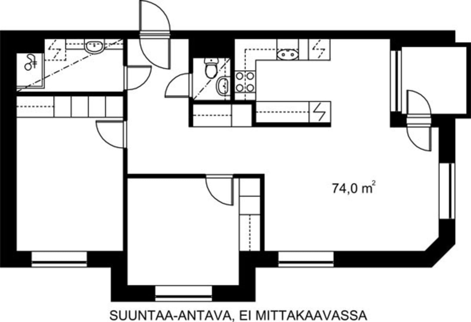 Helsinki, Kruununhaka, Snellmaninkatu 23 A 006