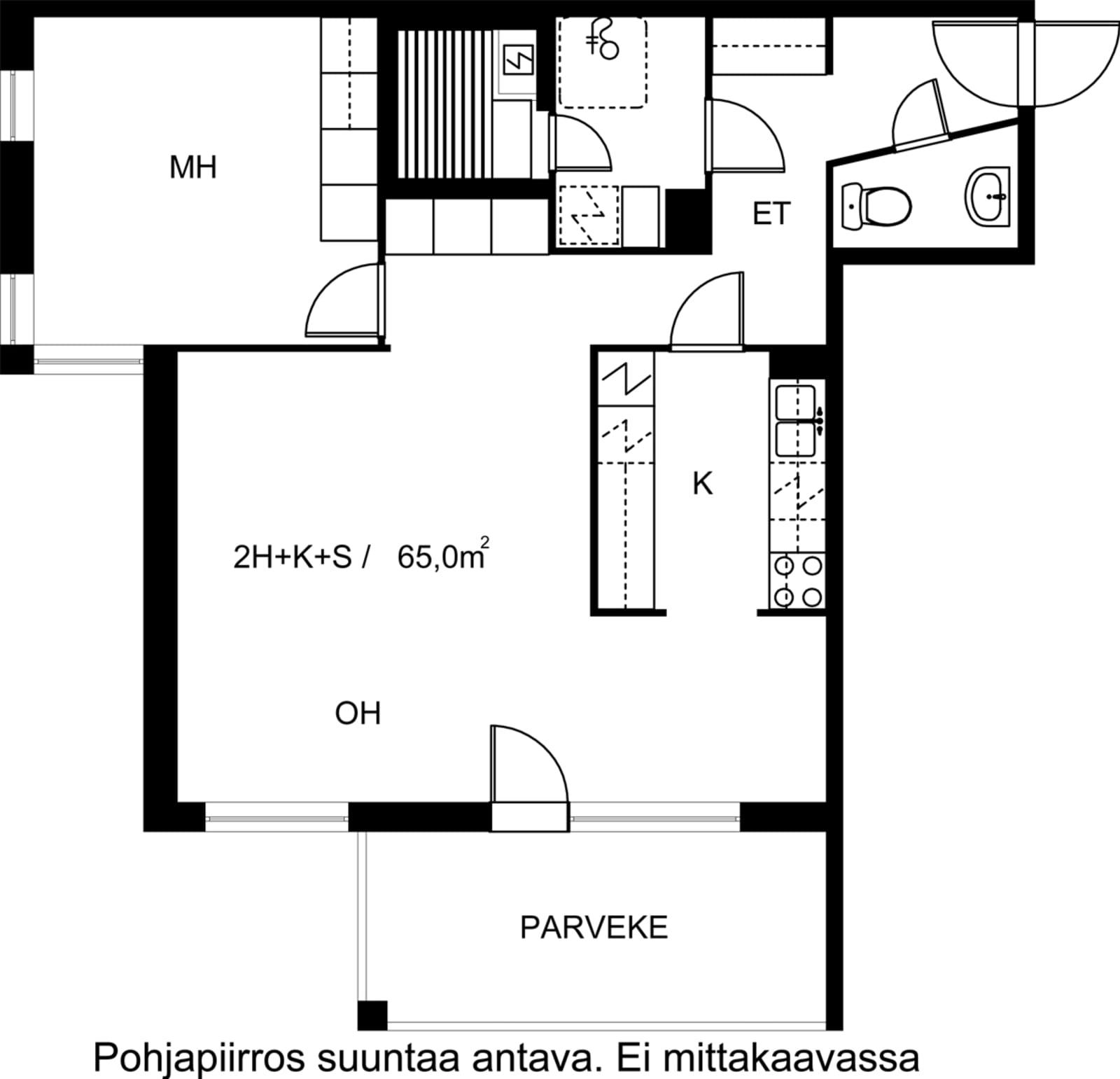 Turku, Keskusta, Sukkulakuja 2 A 003
