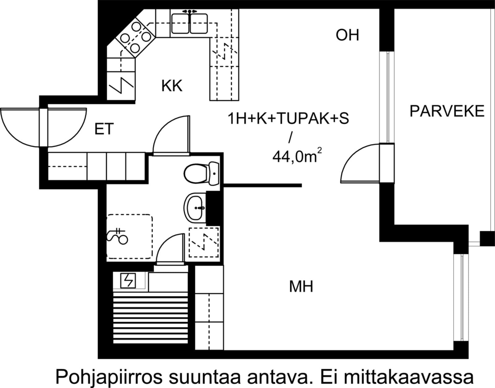 Turku, Keskusta, Sukkulakuja 2 A 001