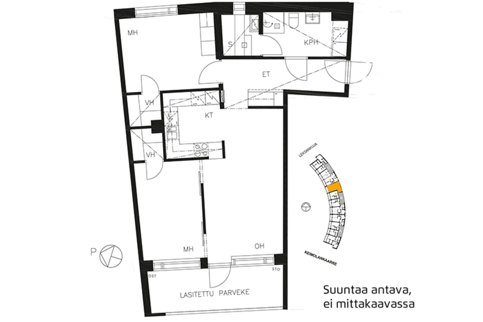 Vantaa, Keimolanmäki, Leksankuja 3 B 033