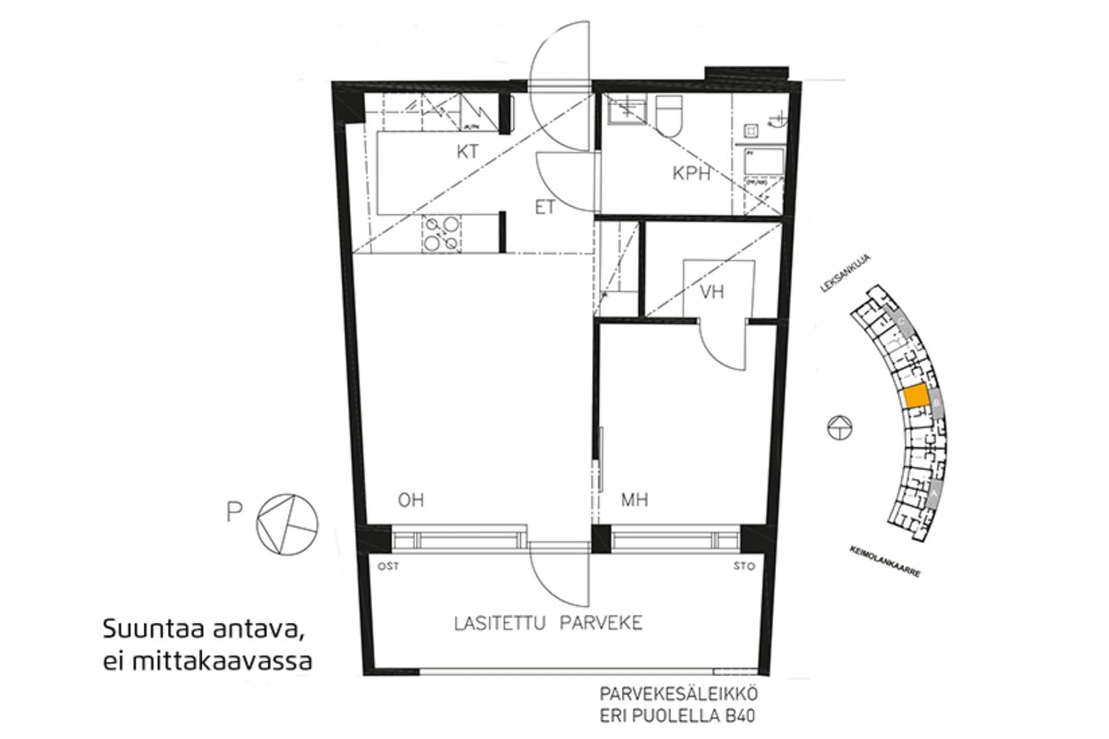 Vantaa, Keimolanmäki, Leksankuja 3 B 036