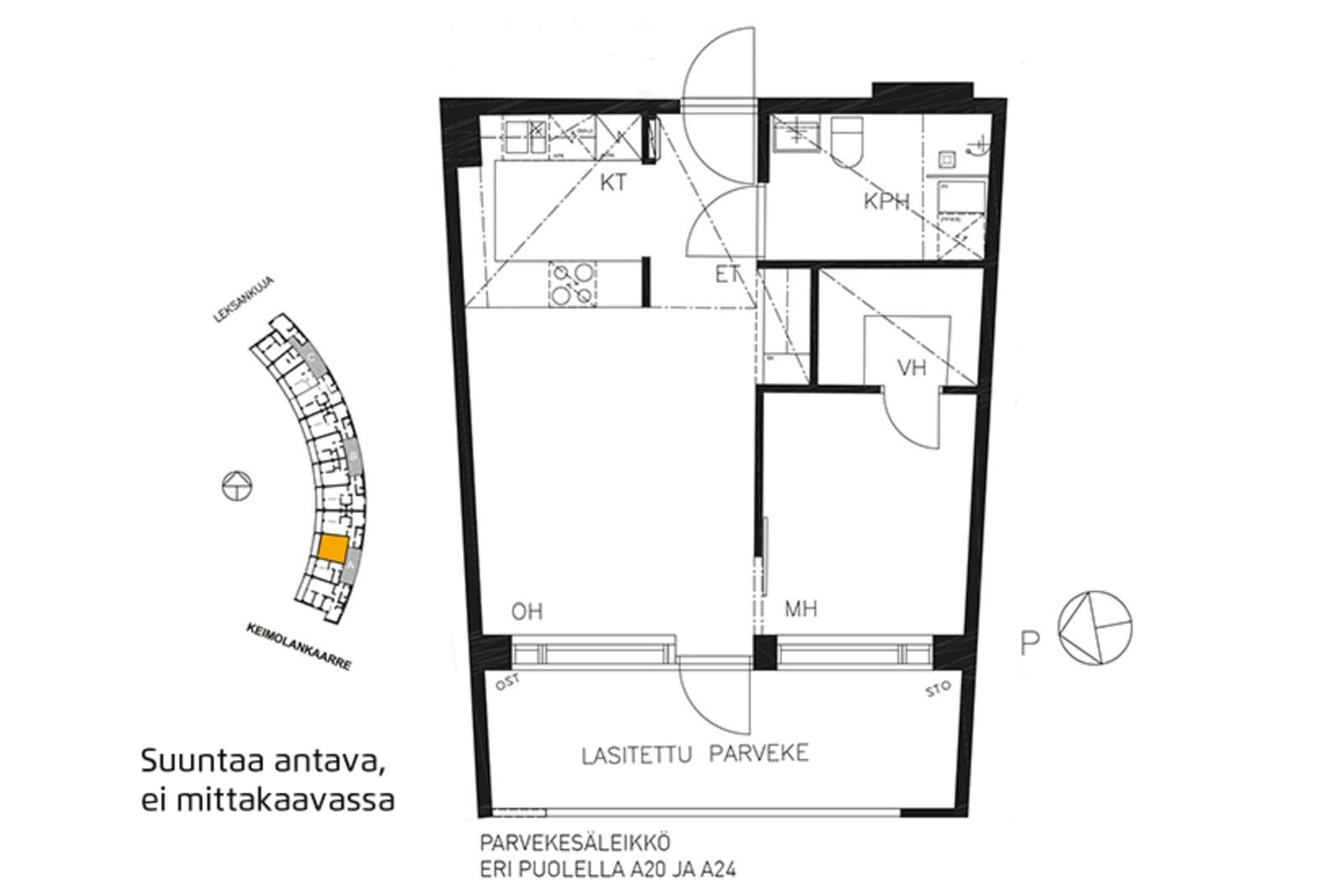 Vantaa, Keimolanmäki, Leksankuja 3 A 016