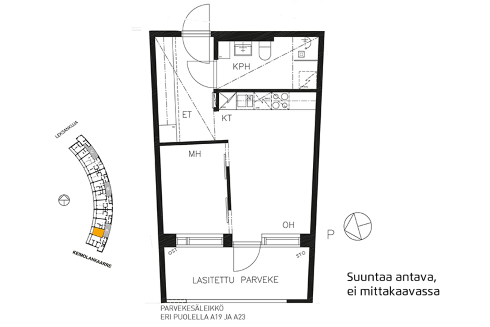 Vantaa, Keimolanmäki, Leksankuja 3 A 015