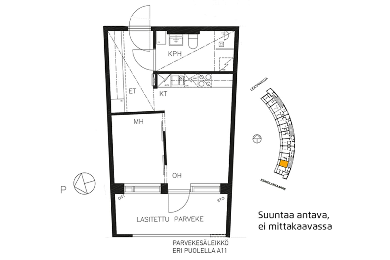 Vantaa, Keimolanmäki, Leksankuja 3 A 003