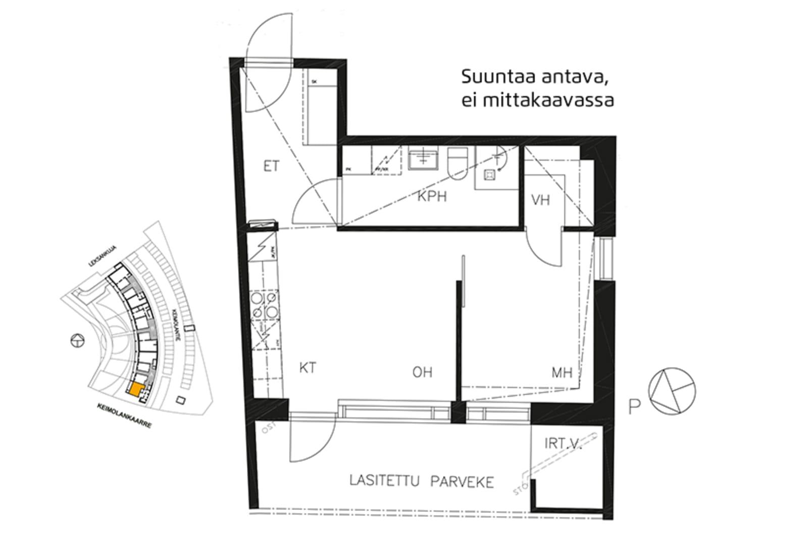Vantaa, Keimolanmäki, Leksankuja 3 A 001