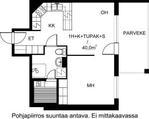 Turku, Keskusta, Sukkulakuja 2 B 038