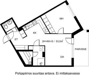 Turku, Keskusta, Sukkulakuja 2 A 006