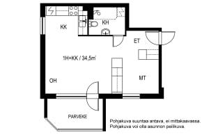 Vantaa, Länsimäki, Tykkikuja 7 A 001