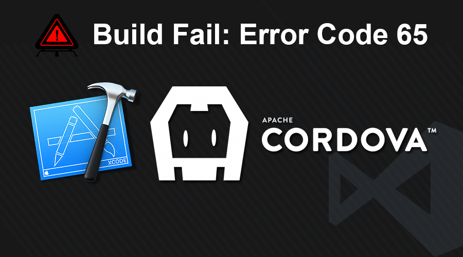 Microsoft Visual Studio Tools for Apache Cordova Build Failed: Error code 65 for command when using Xcode 8 and iOS 10
