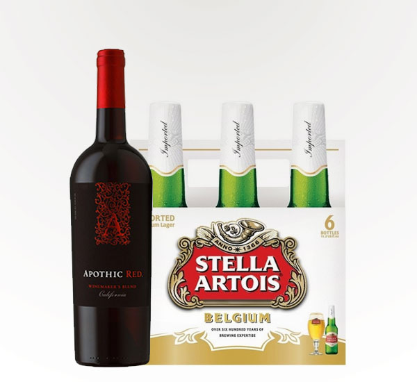 Apothic Red Blend and Stella Artois
