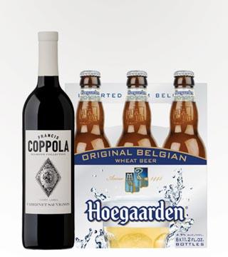 Coppola Cabernet Sauvignon and Hoegaarden
