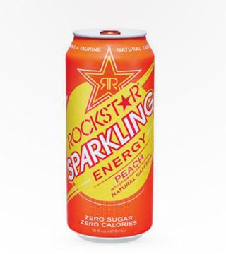 Rockstar Sparkling Peach 16 Oz