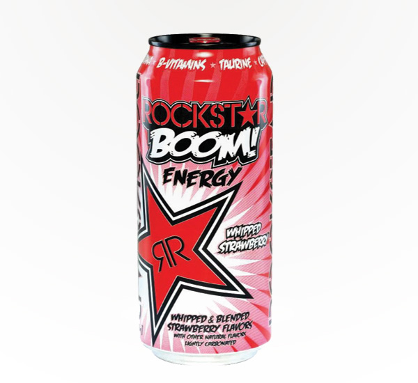 Rockstar BOOM Whipped Strawberry 16oz can