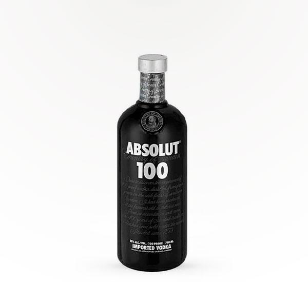 Absolut Vodka 100 Prf Black