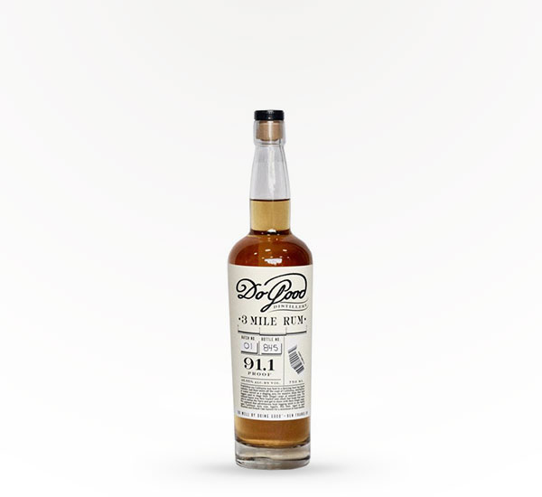 Do Good Distillery 3 Mile Rum 750ml
