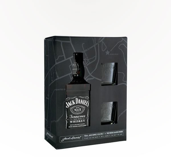 Jack Daniel's Tennessee Whiskey 750ml Gift Set