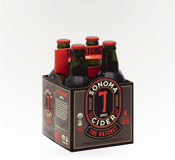 Sonoma Beverage Works Hatchet Apple Cider 6pkc