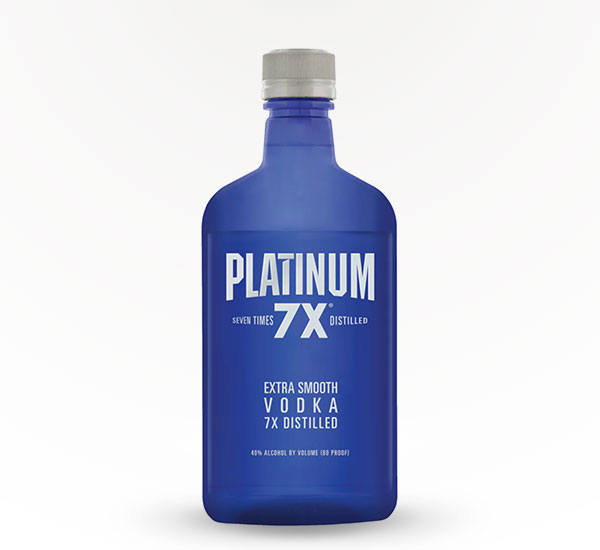 PLATINUM 7X VODKA PET 375ML