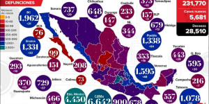 Mexico No. 6 Among Countries With Most Covid-19 Deaths