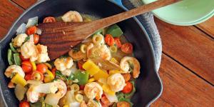Aunt Terri Cooks Veracruz Style Shrimp