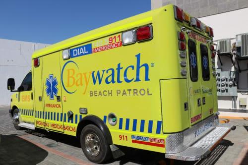 Baywatch Ambulance in Sayulita Mexico