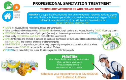 Persanic Sanitize Service in Sayulita Mexico