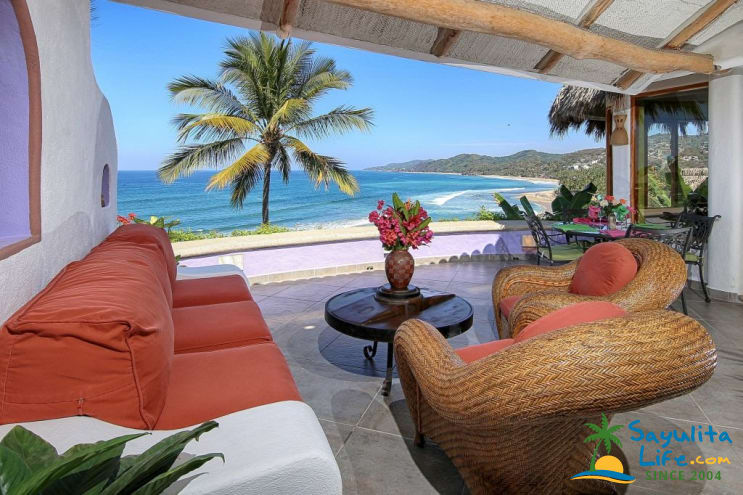 Casa Bougainvillea Main House Vacation Rental in Sayulita Mexico