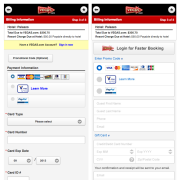 Mobile checkout path redesign - before and after - we shrunk the length of the page down by over half, and this also included removing an unnecessary step/page load.