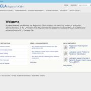 UCLA Registrar's Office Landing Wireframe