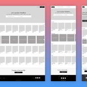 WIREFRAME - Profile page