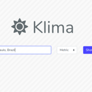 Klima is a simple weather app written in Laravel. This is the location search page. The app can be seen at https://klimapp.herokuapp.com