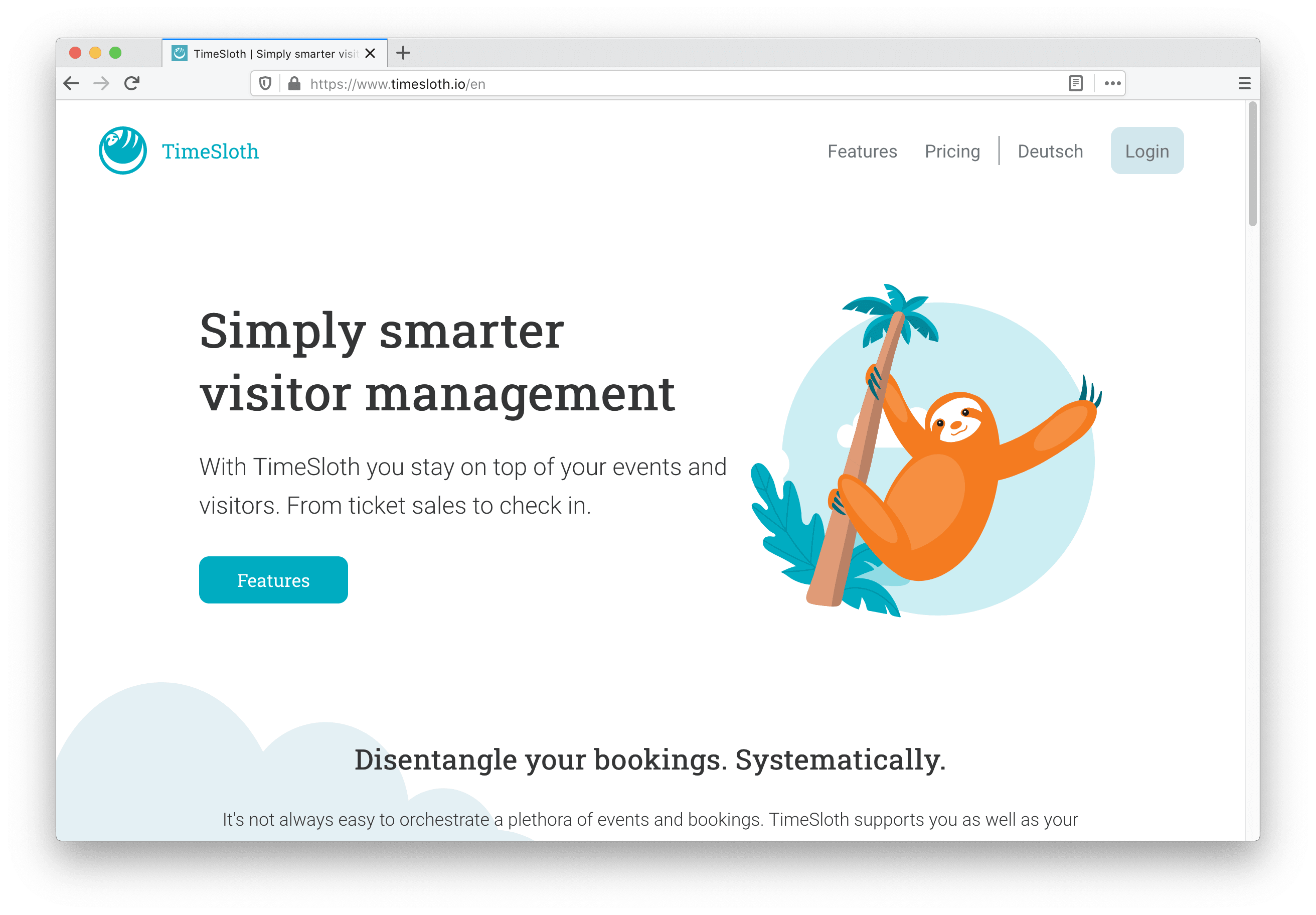 TimeSloth Website