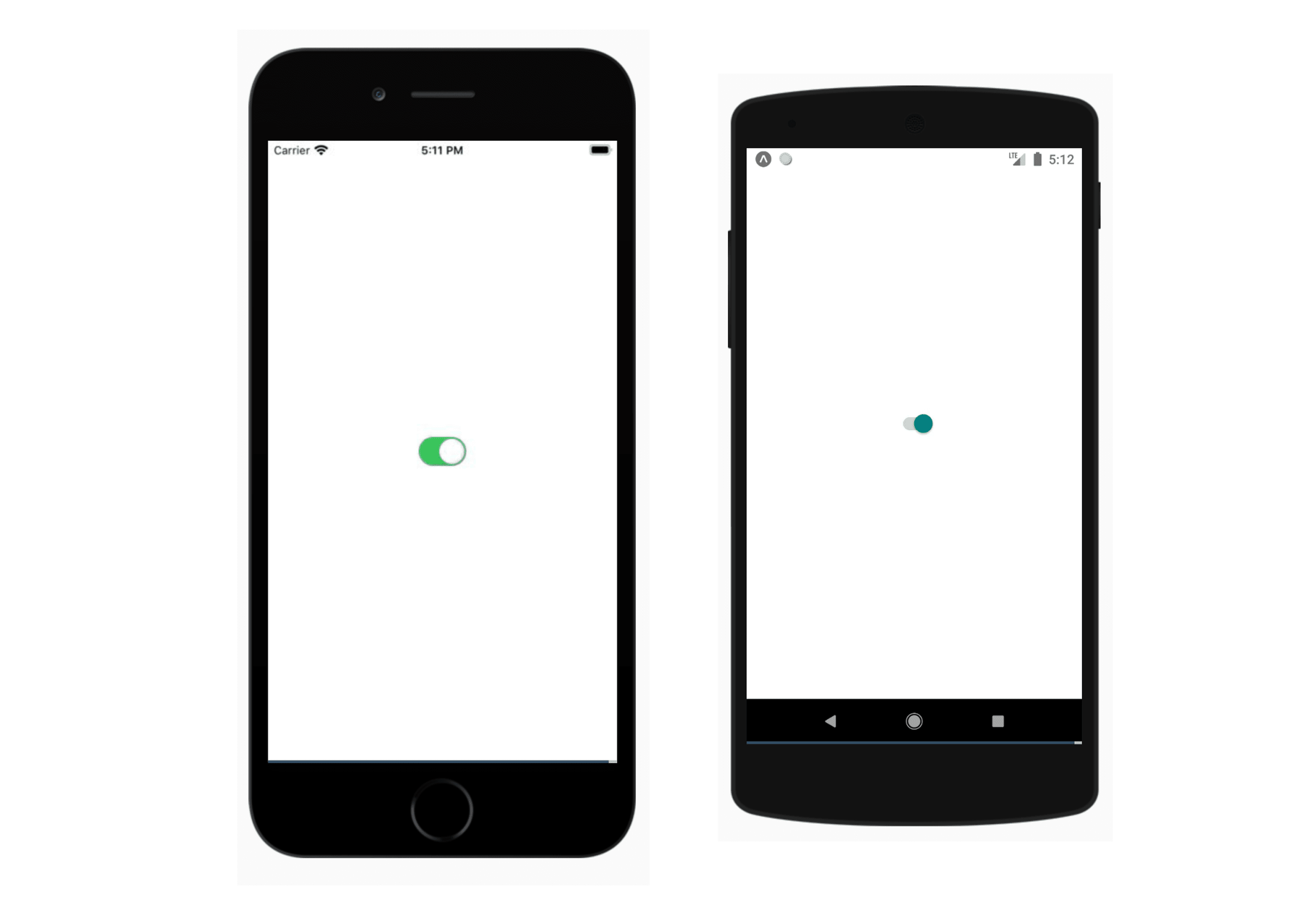 A beautiful switch component on iOS and Android