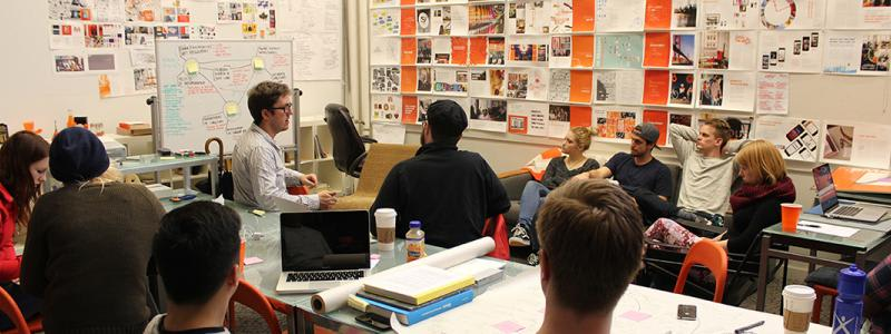 students in a design clinic