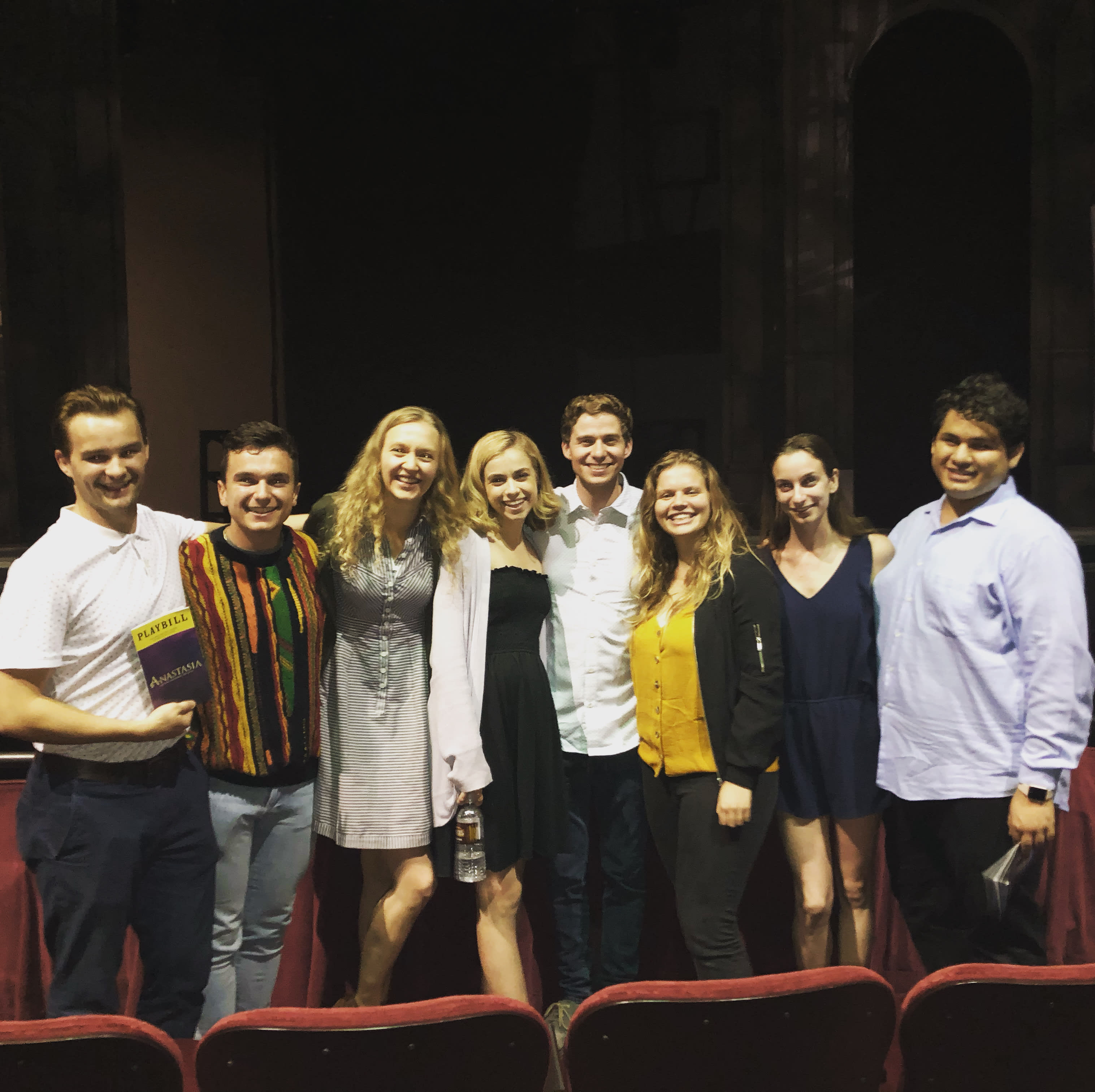 MT Class with Alum Jake Levy at His Performance of Anastasia