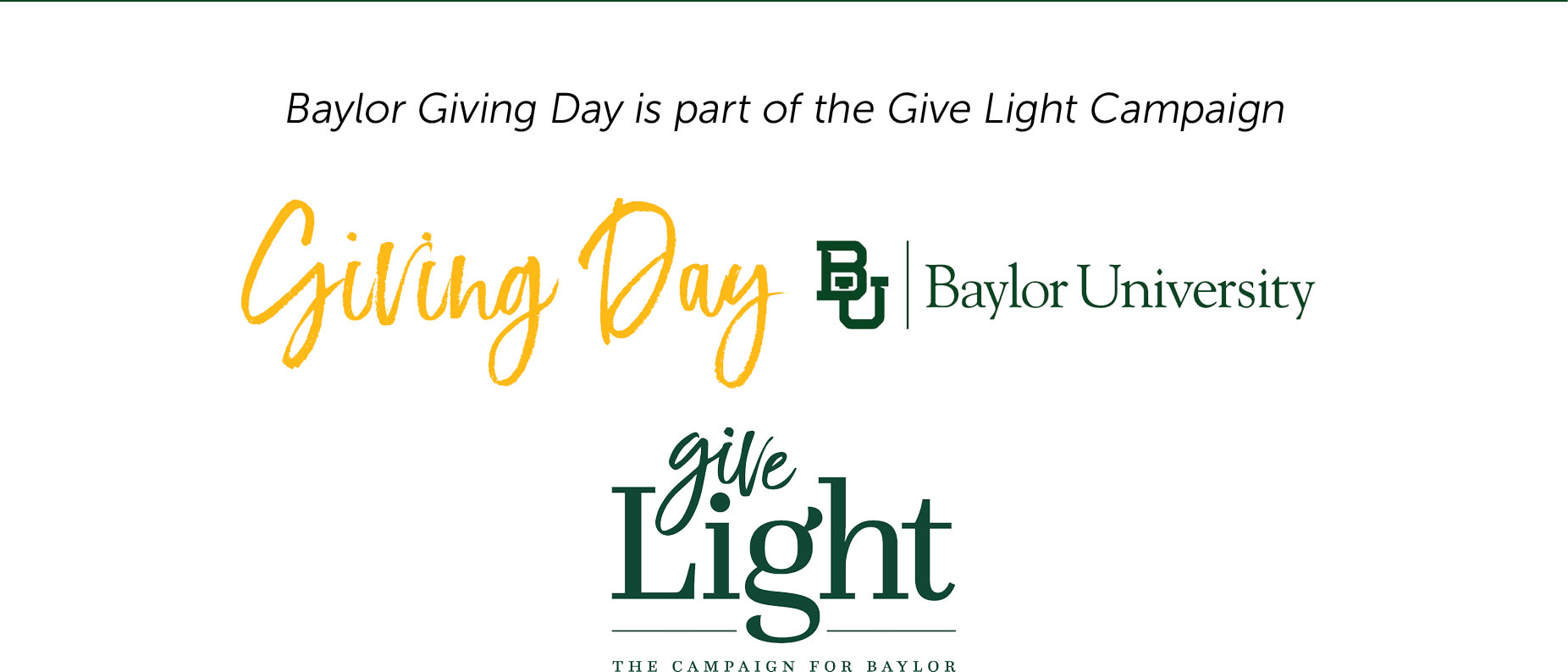 Baylor Giving Day - Give Light